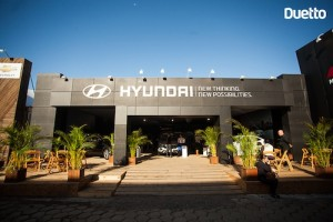Estande da Hyundai CAOA na Expointer 2014 organizado pela Duetto agência de eventos de porto alegre rio grande do sul